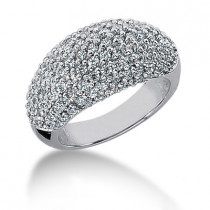 Platinum Round Diamond Ladies Ring 1.69ct