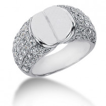 Platinum Round Diamond Ladies Ring 1.70ct