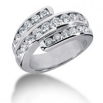 Platinum Round Diamond Ladies Ring 1.74ct