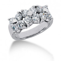 Platinum Round Diamond Ladies Ring 1.80ct
