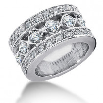 Platinum Round Diamond Ladies Ring 1.83ct