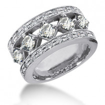Platinum Round Diamond Ladies Ring 1.85ct