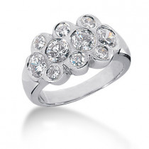 Platinum Round Diamond Ladies Ring 1.88ct