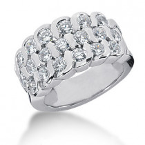 Platinum Round Diamond Ladies Ring 1.90ct