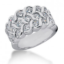 Platinum Round Diamond Ladies Ring 2.02ct