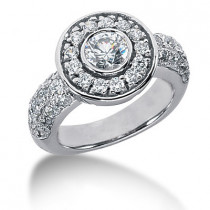Platinum Round Diamond Ladies Ring 2.05ct