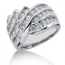Platinum Round Diamond Ladies Ring 2.22ct