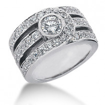 Platinum Round Diamond Ladies Ring 2.28ct