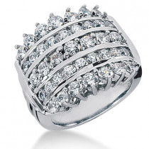 Platinum Round Diamond Ladies Ring 2.34ct