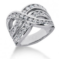 Platinum Round Diamond Ladies Ring 2.40ct