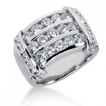 Platinum Round Diamond Ladies Ring 2.52ct
