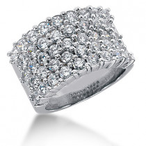 Platinum Round Diamond Ladies Ring 2.58ct