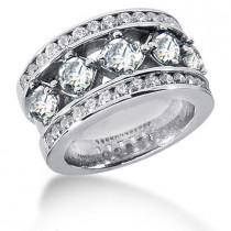 Platinum Round Diamond Ladies Ring 2.65ct