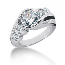 Platinum Round Diamond Ladies Ring 2.80ct