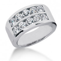 Platinum Round Diamond Ladies Ring 2ct