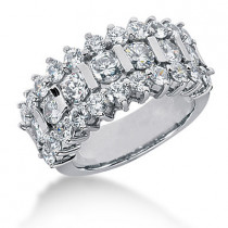 Platinum Round Diamond Ladies Ring 3.07ct