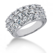 Platinum Round Diamond Ladies Ring 3.30ct