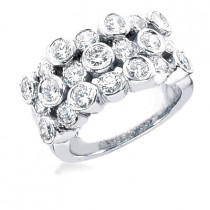 Platinum Round Diamond Ladies Ring 3.75ct