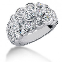 Platinum Round Diamond Ladies Ring 4.23ct