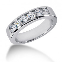 Platinum Round Diamond Men's Wedding Ring 1.20ct
