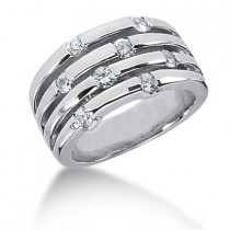 Platinum Round Diamond Right Hand Ladies Ring 0.70ct