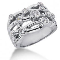 Platinum Round Diamond Right Hand Ladies Ring 0.80ct