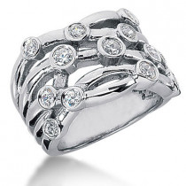 Platinum Round Diamond Right Hand Ladies Ring 1ct