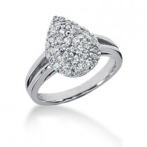 Platinum Women's Diamond Ring 0.48ct