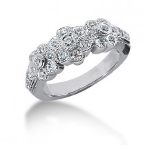 Platinum Women's Diamond Ring 0.56ct