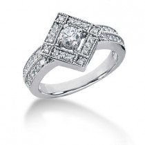 Platinum Women's Diamond Ring 0.60ct