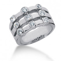 Platinum Women's Diamond Ring 0.66ct