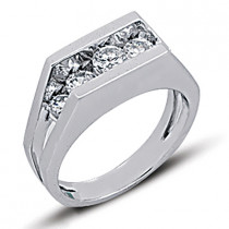 Platinum Women's Diamond Ring 0.76ct