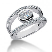 Platinum Women's Diamond Ring 1.02ct