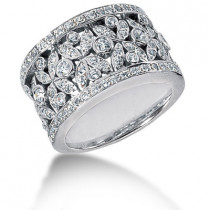 Platinum Women's Diamond Ring 1.20ct