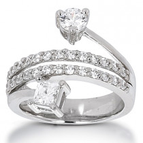 Platinum Women's Diamond Ring 1.27ct