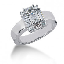 Platinum Women's Diamond Ring 1.50ct