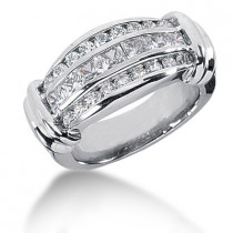 Platinum Women's Diamond Ring 1.53ct