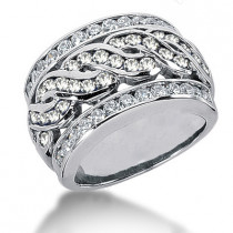 Platinum Women's Diamond Ring 1.65ct