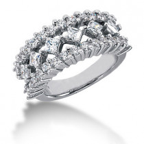 Platinum Women's Diamond Ring 1.68ct
