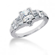 Platinum Women's Diamond Ring 1.82ct