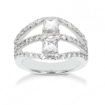 Platinum Women's Diamond Ring 1.90ct