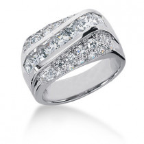 Platinum Women's Diamond Ring 1.95ct