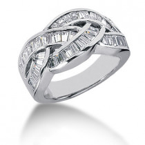 Platinum Women's Diamond Ring 1.96ct