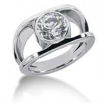 Platinum Women's Diamond Ring 1ct