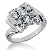 Platinum Women's Diamond Ring 2.05ct