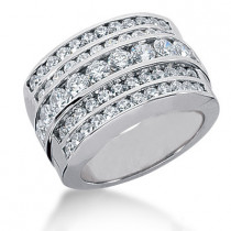 Platinum Women's Diamond Ring 2.08ct