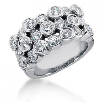 Platinum Women's Diamond Ring 2.10ct
