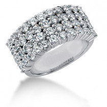 Platinum Women's Diamond Ring 2.48ct