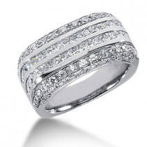 Platinum Women's Diamond Ring 2.60ct
