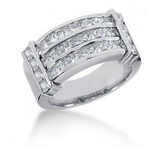 Platinum Women's Diamond Ring 2.62ct